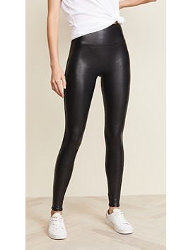 Petite Faux Leather Leggings by Spanx