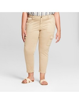 Women's Plus Size Skinny Utility Crop Jeans   Universal Thread™ Tan by Shop All Universal Thread™