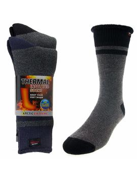 2 Pairs Of Thick Heat Trapping Insulated Heated Boot Thermal Socks Pack Warm Winter Crew For Cold Weather by Arctic Extreme