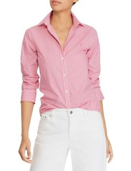 Non Iron Stretch Cotton Button Down Shirt by Lauren Ralph Lauren