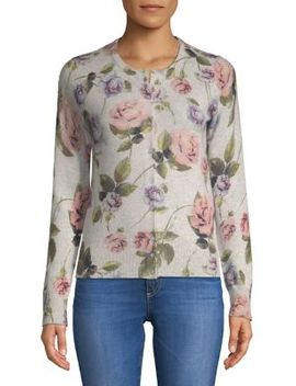 Floral Cashmere Cardigan by Lord & Taylor