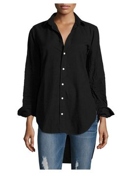 Grayson Button Front Long Sleeve Cotton Shirt by Frank & Eileen