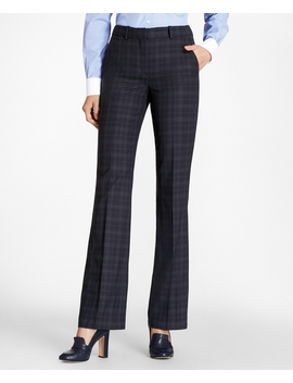 Plaid Brooks Cool® Merino Wool Pants by Brooks Brothers