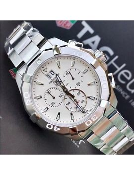 Tag Heuer Aquaracer Chronograph 300 M   ∅43 Mm White Dial by Tag Heuer