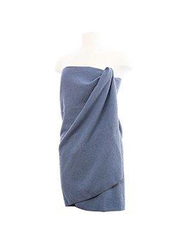 Aquis Waffle Body Towel, Ultra Absorbent & Fast Drying Microfiber Towel, Dark Grey (29 X 55 Inches) by Aquis