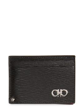 Revival Calfskin Leather Card Case by Salvatore Ferragamo