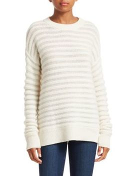 Cashmere Novelty Stripe Crewneck by Theory