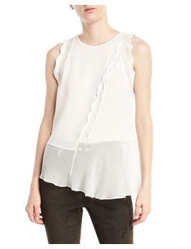 Sleeveless Silk Ruffled Tank by 3.1 Phillip Lim