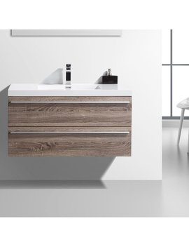 "Foundry Select Bolivia 43"" Wall Mounted Single Bathroom Vanity Set & Reviews by Foundry Select"