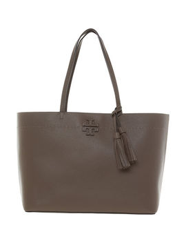 Taup Mc Graw Tote Bag by Tory Burch