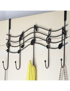 Us Music Note Style Hanger Over The Door Towel Clothes Rack Holder Hooks 3 Color by Unbranded