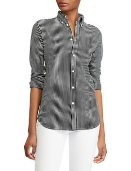 Striped Knit Oxford Shirt by Polo Ralph Lauren