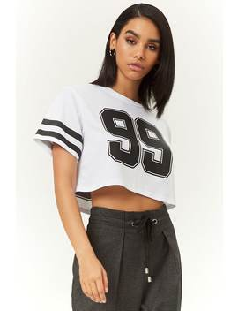 Varsity Striped 99 Graphic Jersey by Forever 21