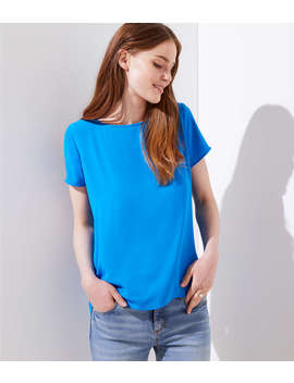 Petite Pleat Back Clean Tee by Loft