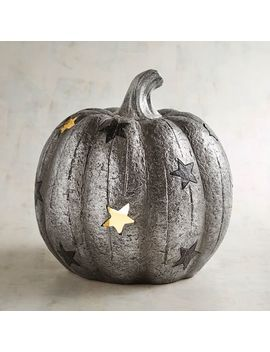 Starry Led Light Up Resin Pumpkin by Celestial Enchantment Collection