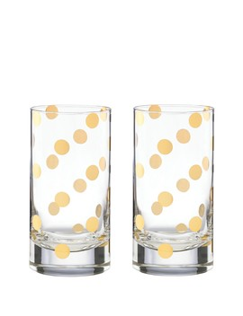 Pearl Place Crystal Highball Glasses   Set Of 2 by Kate Spade New York