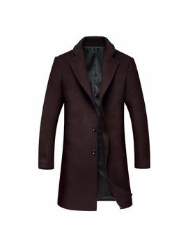 David.Ann Men's Single Breasted Notched Lapel Coat by David.Ann