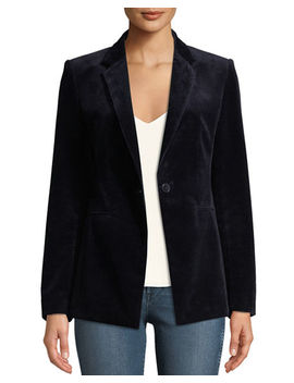 Power One Button Modern Corduroy Jacket by Theory