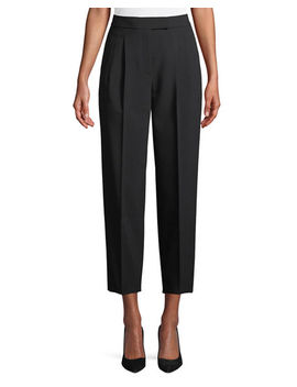 City Pants Tapered Leg Cropped Prospective Light Pants by Theory