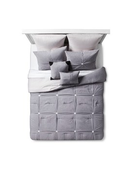 Gray Four Square Comforter Set 8pc by Target