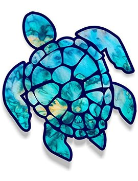 Vinyl Junkie Graphics 3 Inch Sea Turtle Sticker For Laptops Cups Tumblers Cars And Trucks Any Smooth Surface (Cyan Dream) by Vinyl Junkie Graphics
