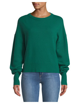Crewneck Drop Shoulder Long Sleeve Cashmere Sweater by Theory