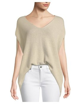 V Neck Cashmere Cape Sweater by Theory