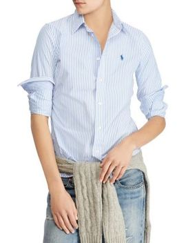 Stretch Slim Striped Shirt by Polo Ralph Lauren
