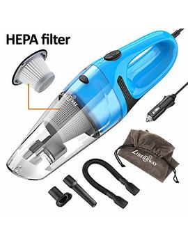 Liberrway Car Vacuum Cleaner High Power Dc 12v Portable Handheld Wet Dry Auto Vacuum Cleaner For Car, 5.0 Kpa Suction With Cigarette Lighter Plug 14ft Power Cord, Carrying Bag, Hepa Filter   Blue by Liberrway