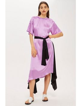 **Elastic Neck Satin Maxi Dress By Boutique by Topshop