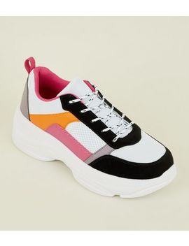 Multi Colour Ultra Chunky Trainers by New Look