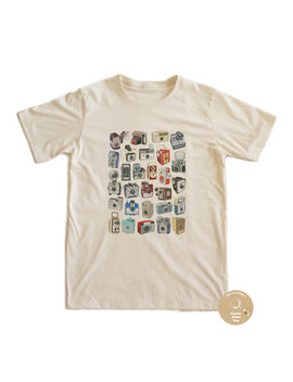 Vintage Camera 70's T Shirt 100 Percents Organic Cotton by Organiccottonshop