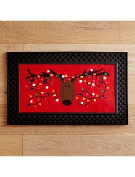 Reindeer Led Light Up Musical Doormat by Pier1 Imports