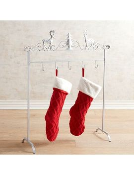Silver Deer Standing Stocking Holder Rack by Pier1 Imports