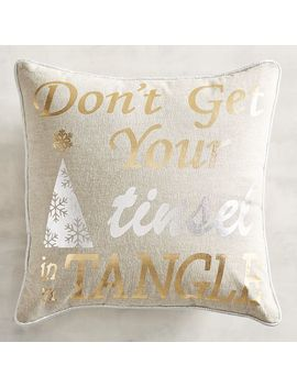 Don't Get Your Tinsel In A Tangle Mini Pillow by Pier1 Imports