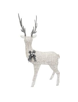 "48"" White Standing Light Up Standing Doe Yard Art by Pier1 Imports"