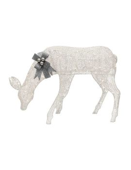 "57"" White Light Up Feeding Doe Yard Art by Pier1 Imports"
