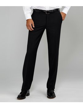 Flat Front Modern Fit Travel Smart Dress Pants by Generic