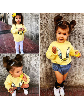 New Style Spring Autumn Yellow Duck Hoodies Kids Baby Girl Boy Cartoon Loose Top T Shirt Sweatshirt Casual Long Sleeve Clothes by Pudcoco
