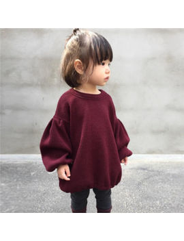 1 6 T Toddler Kids Baby Girls Outfits Sweatshirt Sweater Tops T Shirt Coat Blouse Red Cotton Casual Long Sleeve Sweatshirts 1 6 Y by Pudcoco