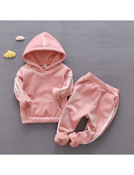 Kids Clothing Sets For Girl Child Clothes Girls Tracksuit Set Children Sports Suit Outfits 3 Year Hoodie 2 Piece Toddler Costume by Huanxixiaoxiong