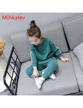 Mihkalev Active Cotton Baby Girl Clothes Set For Kids 2pcs Sport Suit Tshirt And Pants Children Long Sleeve Sets Girls Tracksuit by Mihkalev