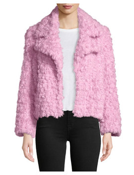 Georgia Faux Fur Button Front Jacket by Cinq A Sept