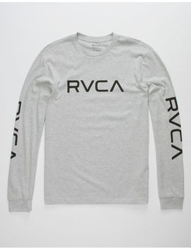 Rvca Big Rvca Sleeves Heather Mens T Shirt by Rvca