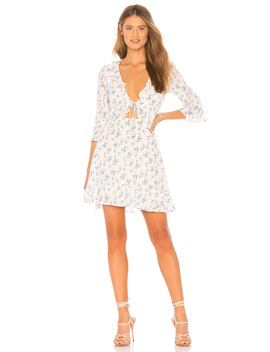 X Revolve Tie Front Mini Dress by For Love & Lemons
