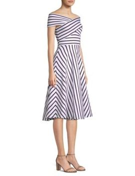 Rivera Stripe Knit Dress by Milly