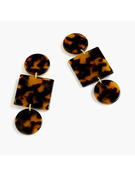 Geometric Tortoise Earrings by J.Crew