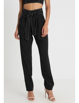Raya Constrast Stitch Belted Trouser   Chino by 4th & Reckless