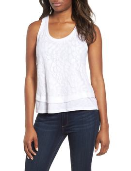 Racerback Lace Front Tank by Gibson