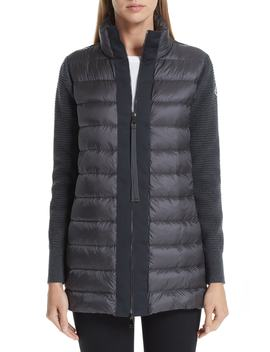 Maglione Quilted Down & Knit Cardigan by Moncler